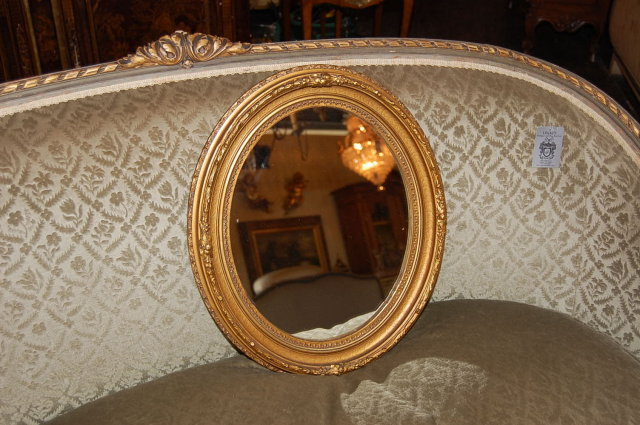 Petite French Oval Mirror