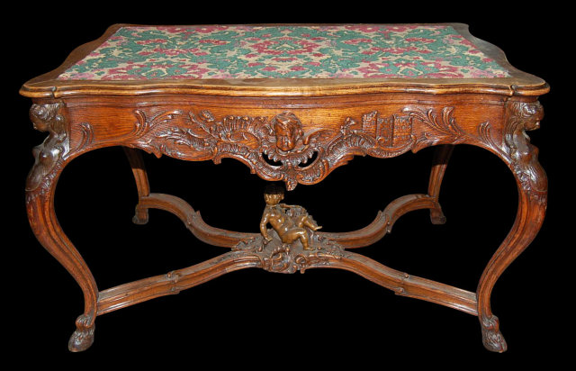Carved Oak Center Table