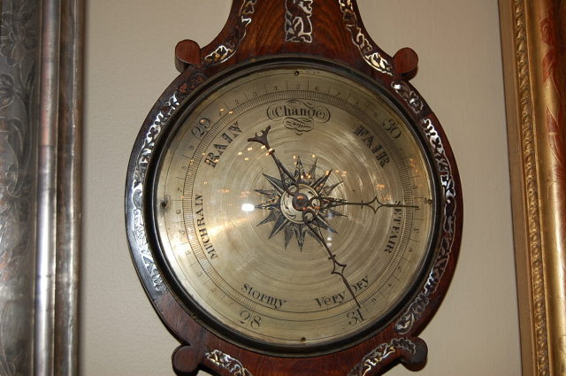 English Rosewood & Mother-Of-Pearl Barometer