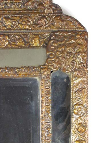 Victorian Metal Embossed Mirror