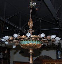 Italian Painted Metal Chandelier