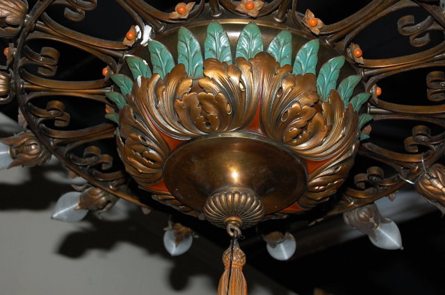 Italian Painted Metal Chandelier