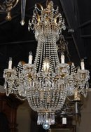 French Crystal Regency Chandelier
