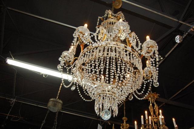 French Crystal Regency Chandelier