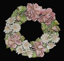 Porcelain Barbotine Wreath