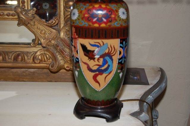 Chinese Cloisonne Lamp