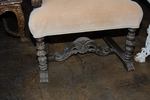 French Carved Armchair