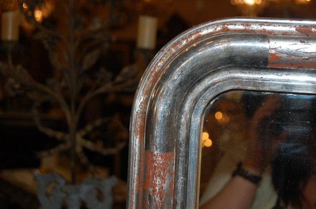 Silver Louis Philippe Mirror