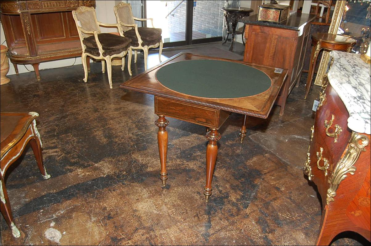 Impressive Rosewood Games Table