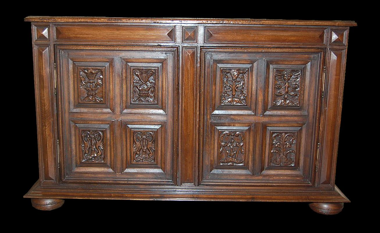 Hand Carved Narrow Buffet