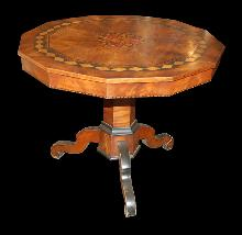 Italian Inlaid Pedestal Table