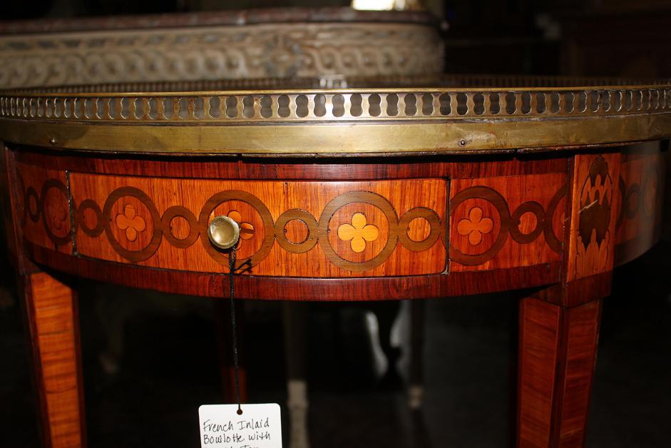 French Inlaid Builiotte Table