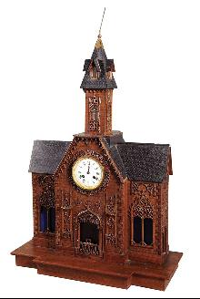 Swiss Black Forest Carved Clock