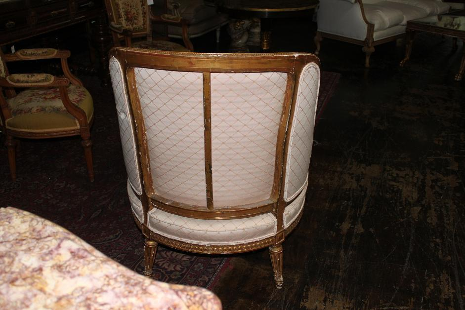 French Giltwood Chaise Lounge