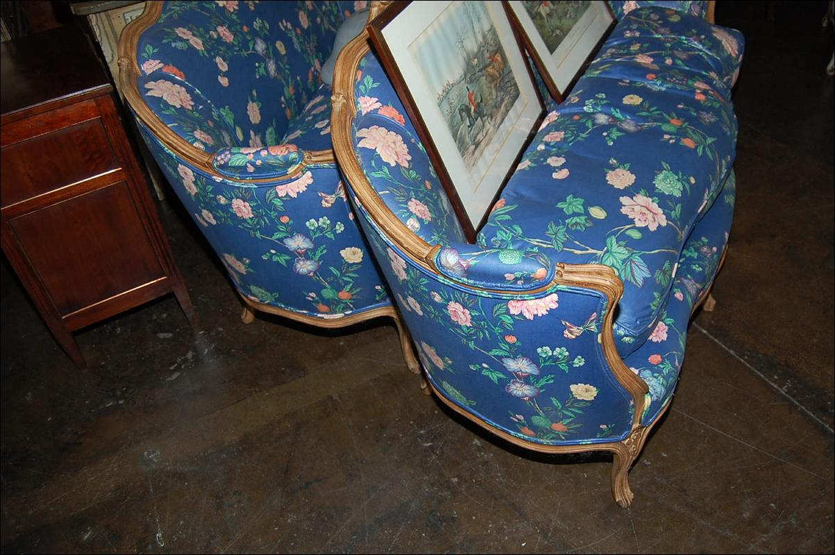 Pair French Settees