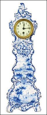 19th Century Miniature Delft Clock