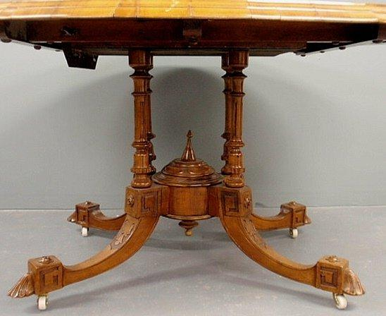 Continental Marquetry Lift Top Table