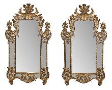 Impressive Pair French Style Mirrors