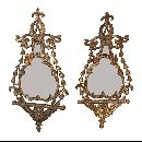 Pair French Gilt Mirrors