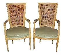 Pair French Directoire Chairs