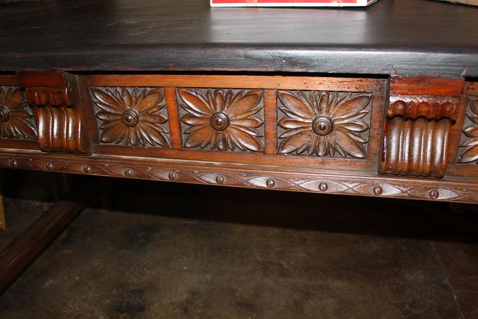 Spanish Carved Library Table