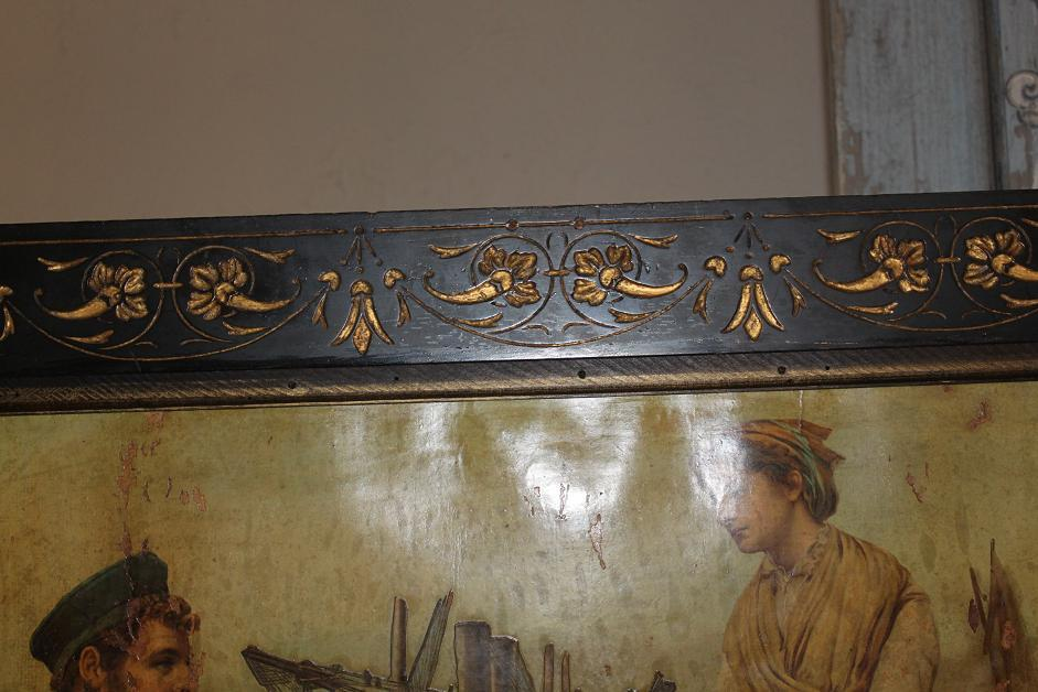 Continental Decoupage Screen