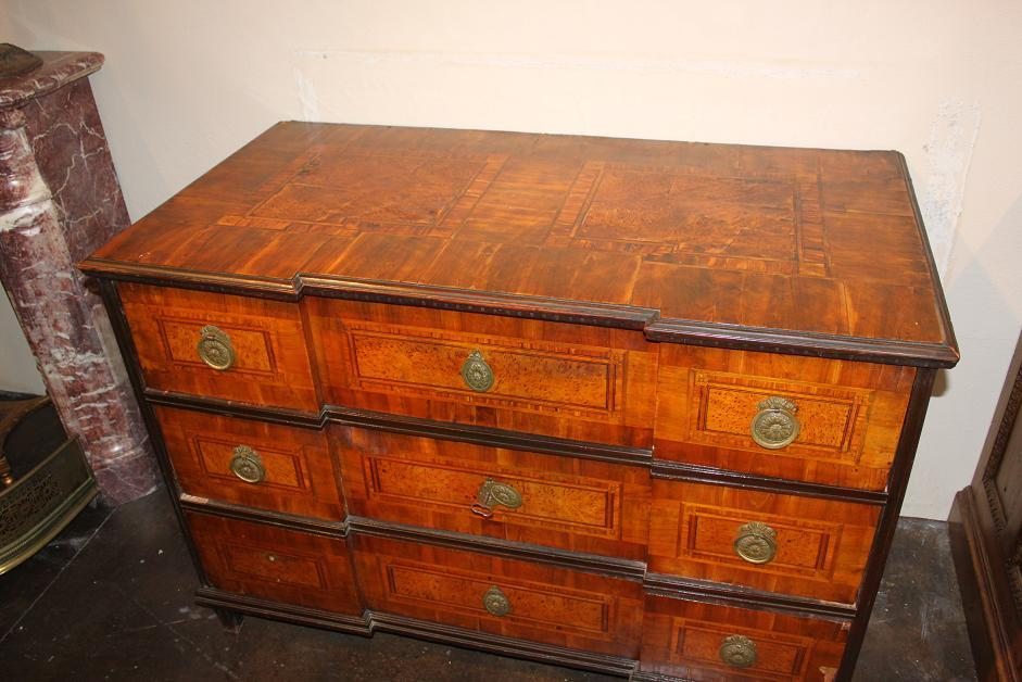 South German Penwork Commode