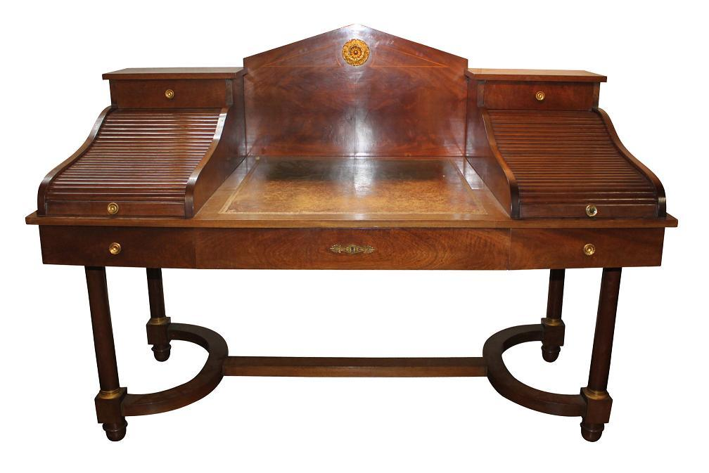 French Empire Roll Top Desk