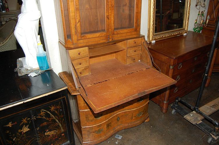 18th Century German Burl Walnut Secretary