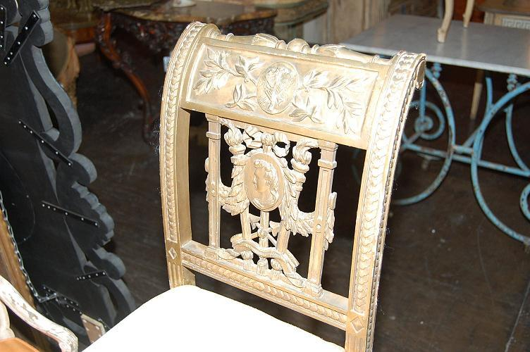 Neo-Classical Carved Window Bench
