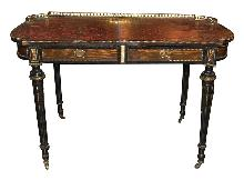 Continental Rosewood Writing Desk