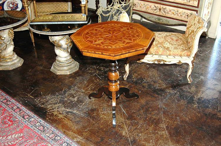 Northern Italian Inlaid Side Table