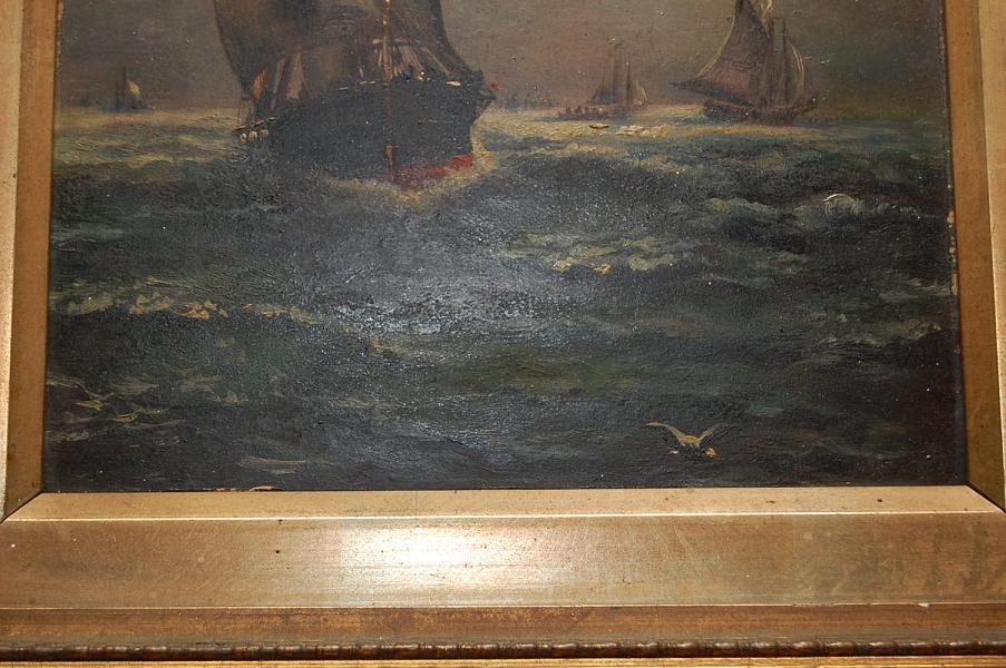 Petite Ship Scene Painting