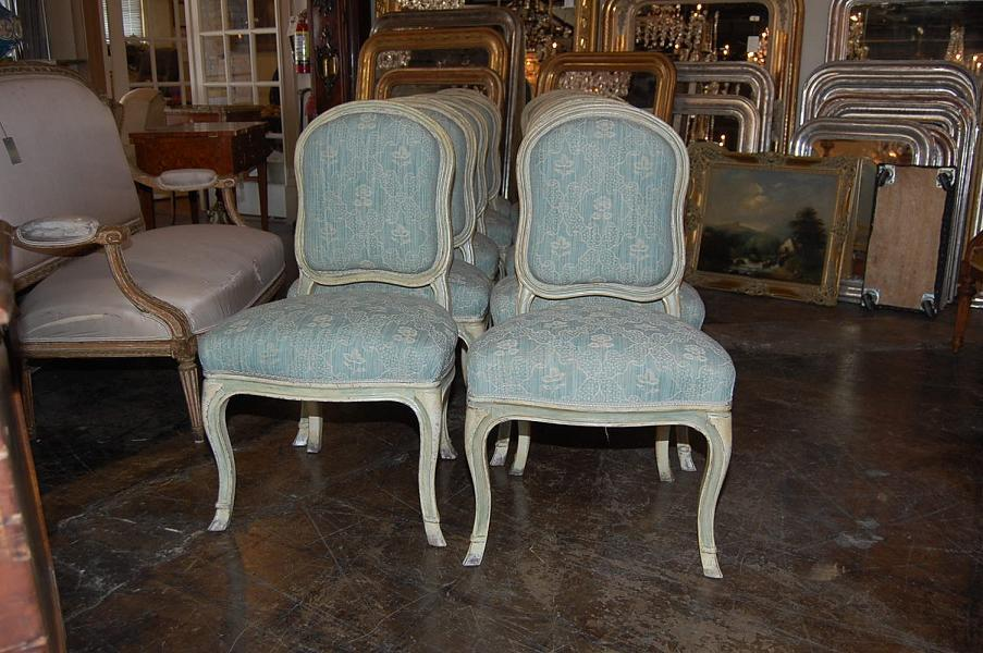 Set of 10 Italian Dining Chairs