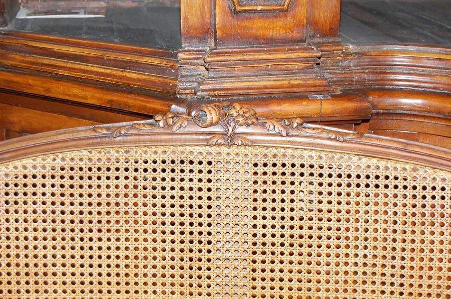 French Caned Settee