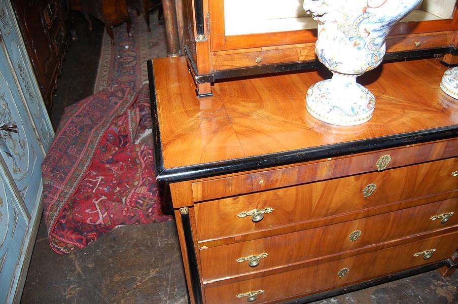 Ebonized Birch & Cherry Biedermeier Commode