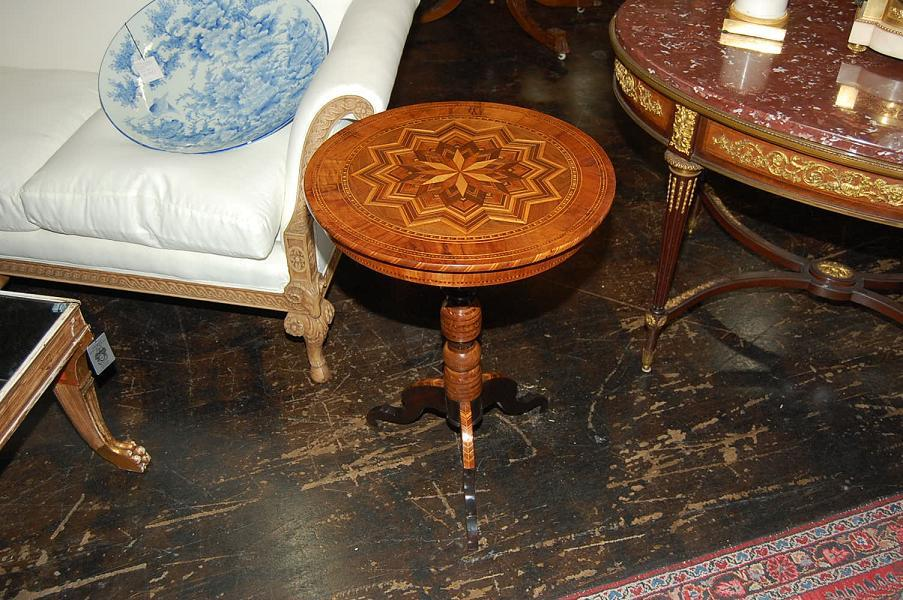 Italian Inlaid Side Table