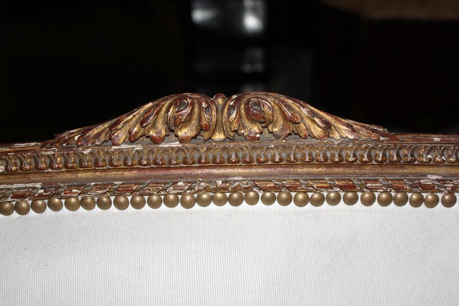 French Giltwood Settee