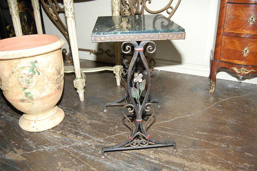 Art Nouveau Iron Side Table
