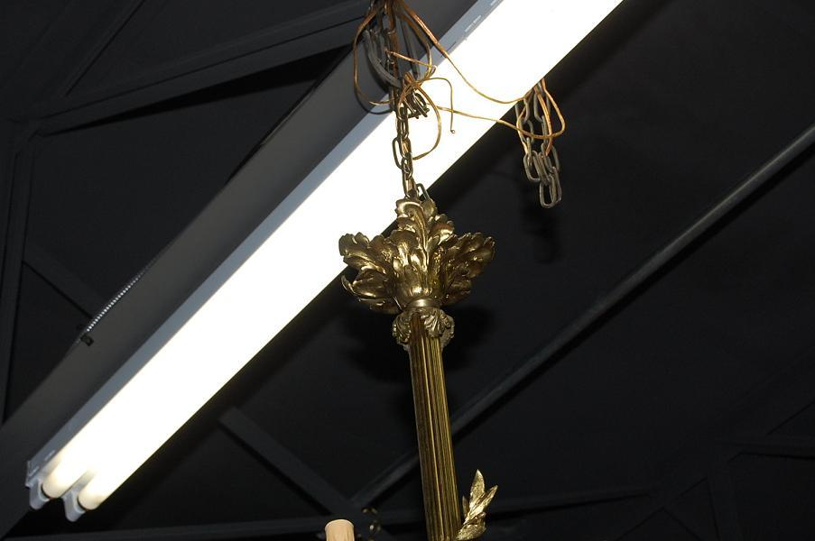 Large French Bronze Chandelier