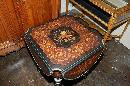 French Marquetry Drop Leaf Side Table