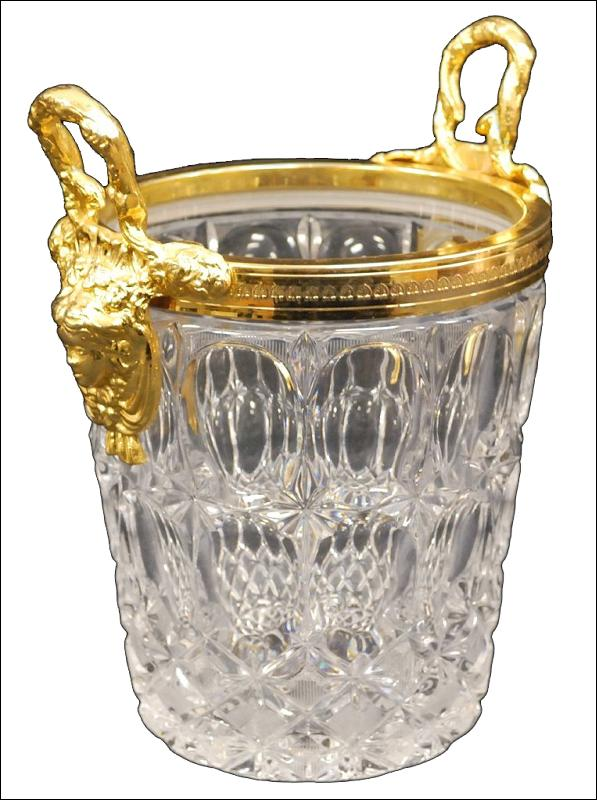 Etched Crystal Ice Bucket