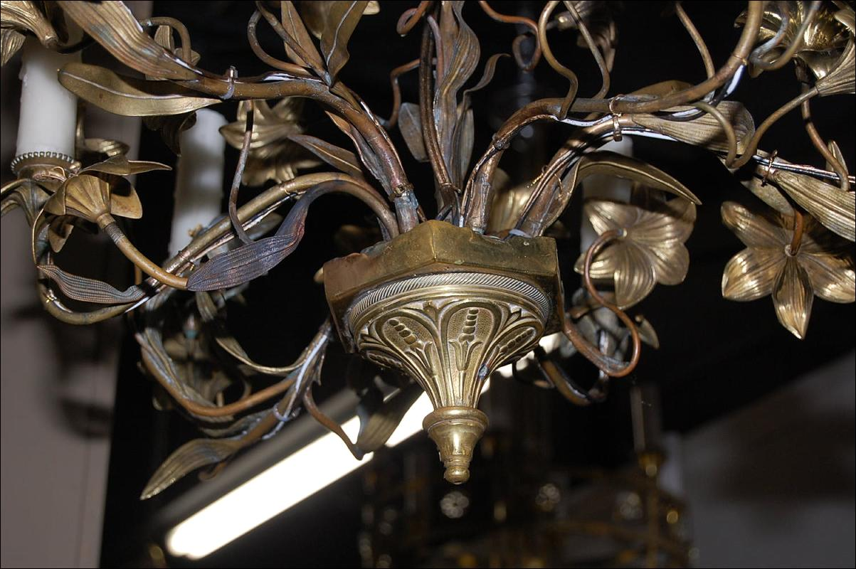 French Gilt Brass Chandelier