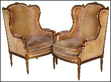 Pair Louis XV Bergeres