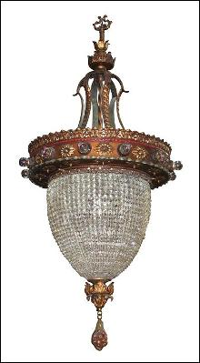 Continental Beaded Crystal Lantern