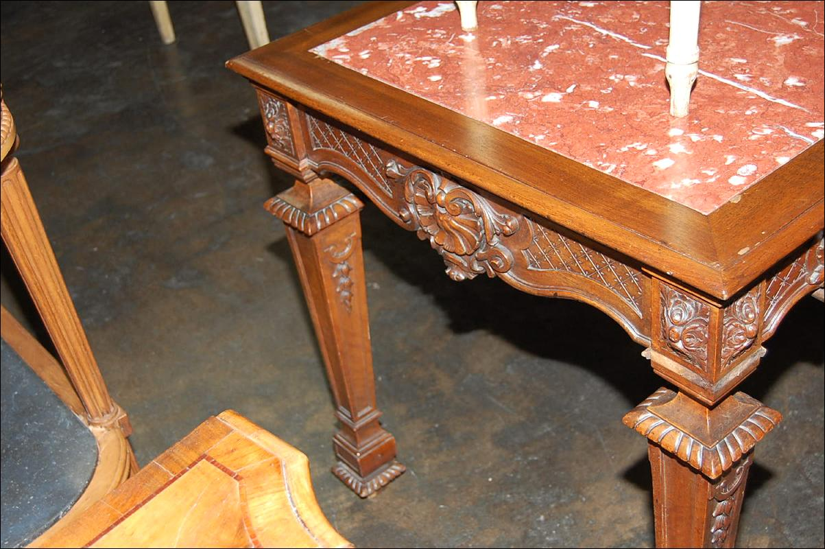 French Carved Center Table