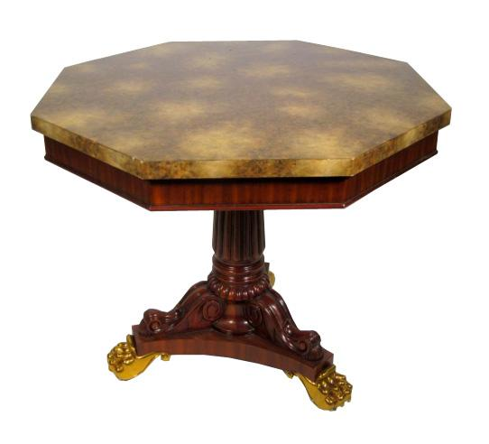 Continental Pedestal Side Table