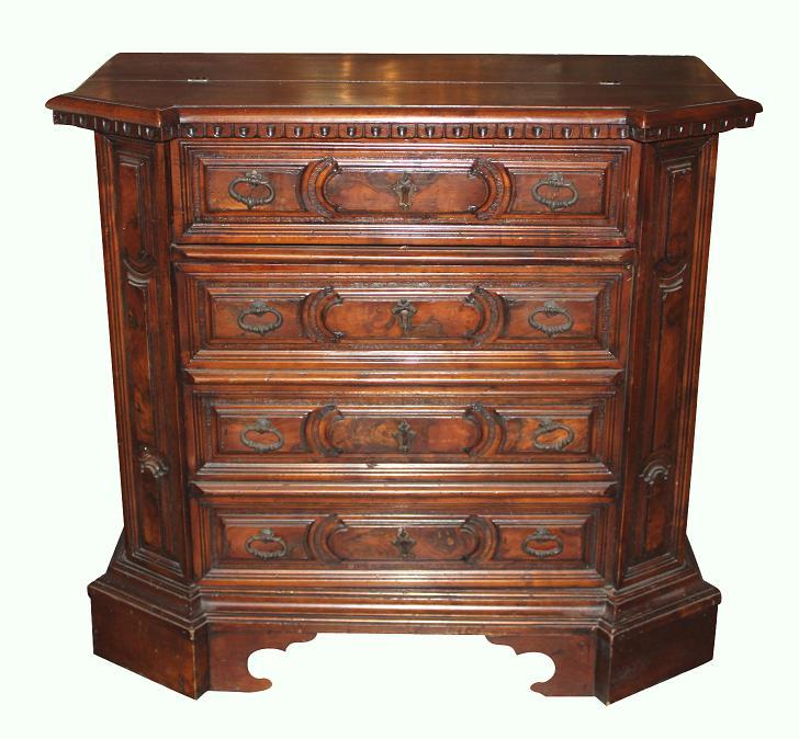Italian Walnut Bureau Chest