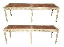 Pair Louis XVI Benches