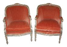 Pair Italian Painted Armchairs